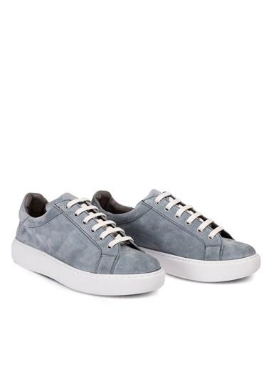 Deery Hakiki Deri Sneakers Gri